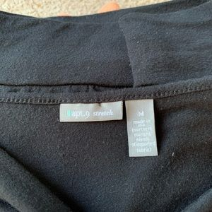 Apt. 9 Tops - Apt 9 Medium Black Tie Sleeve Dressy Shirt Top